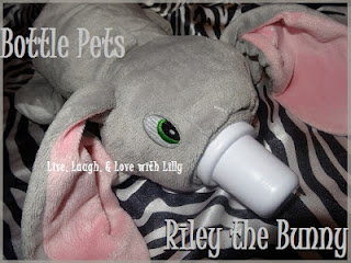 Riley, Bunny, Bottle Pets Review and Giveaway, LLLwithLilly