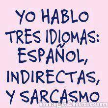 Imagen Yo Hablo Tres Idioma (Imagenes para Facebook)