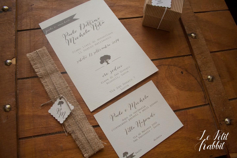 Inviti Matrimonio Country Chic : Wedding ] partecipazioni country chic le petit rabbit