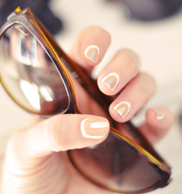 neutral manicure, nail art, nails