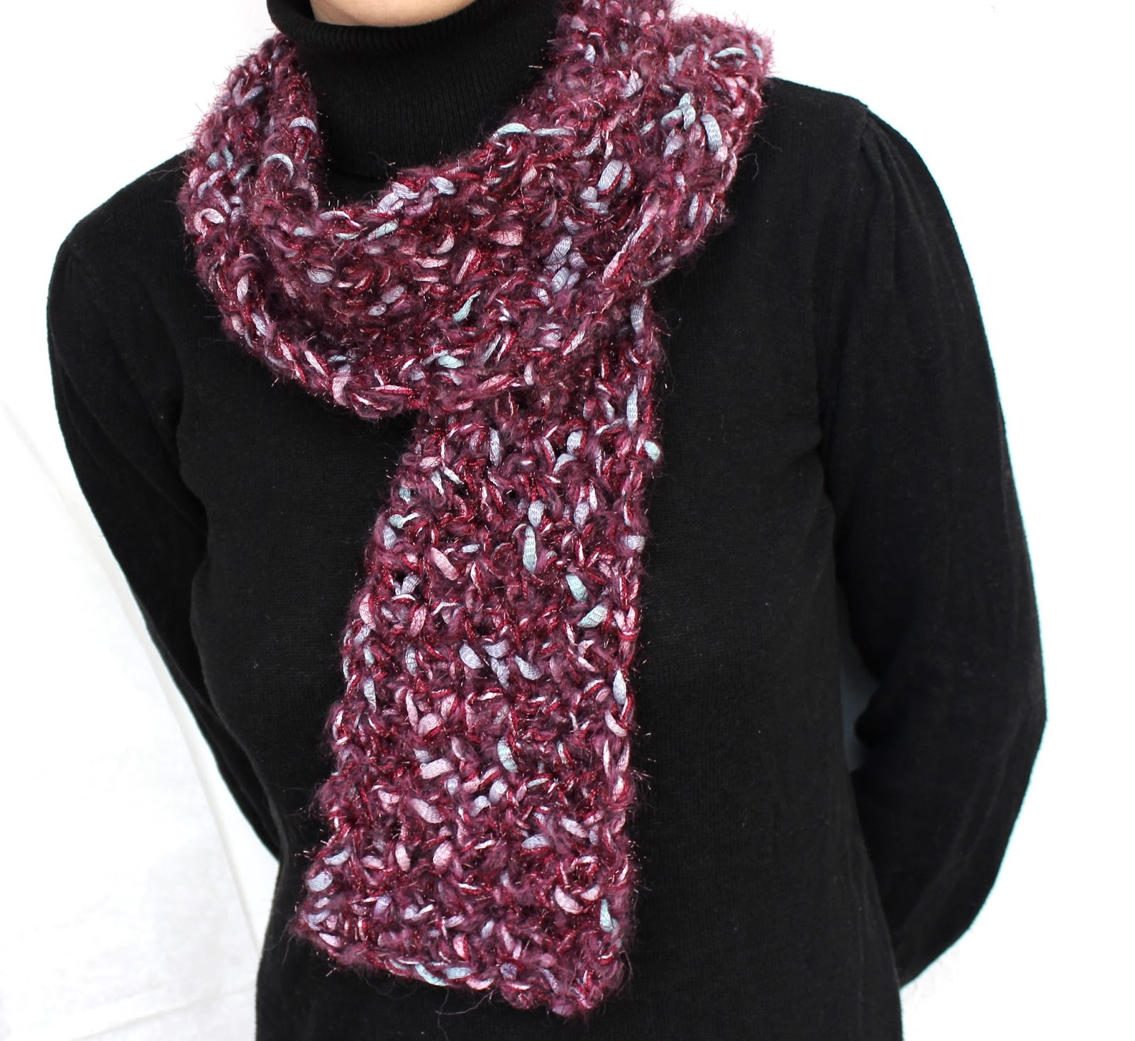 Beauty Crochet Pattern: EASY PRETTY CROCHET SCARF PATTERN