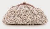 Santi beaded clutch, Santi designer handbag, Santi holiday clutch rhinestone, pink beaded handbag