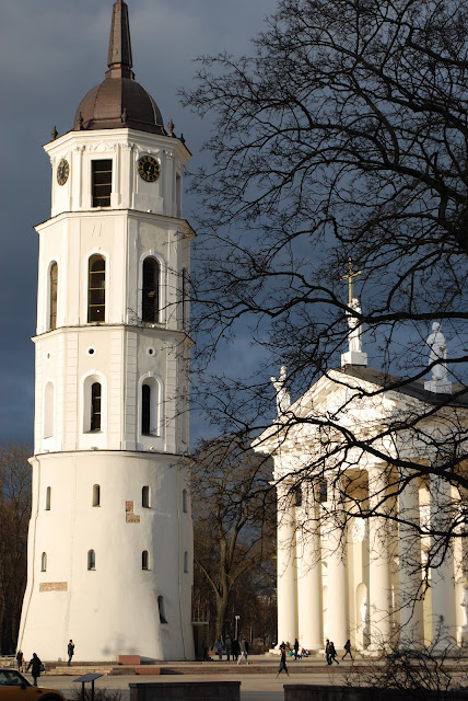 Beautiful picture - Vilnius - Catherdal - Old town -senamiestis - Baltas bokstas