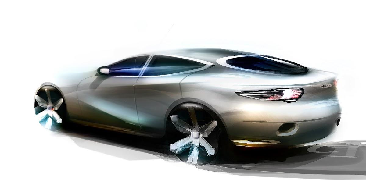 Jnkdesignworks Jaguar Xj Back Sketch