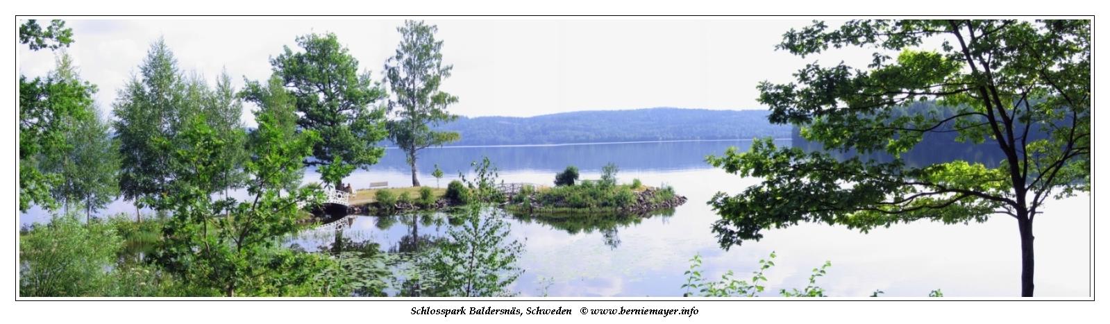 Schlosspark Baldersnäs am Laxsjön