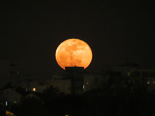 Orange supermoon