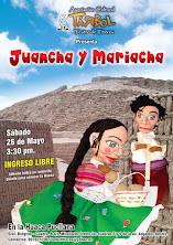 """""""Juancha y Mariacha"""" en la Huaca Pucllana"""