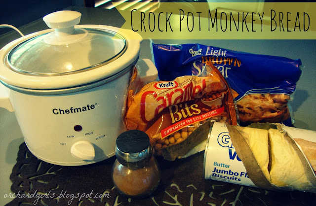 Crock Pot Monkey Bread with Caramel by Orchard Girls