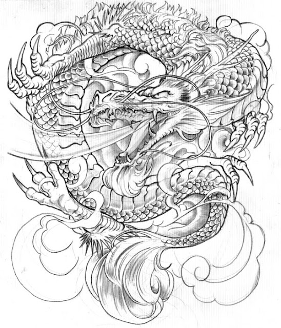 Traditional Japanese Dragon Tattoo Designs