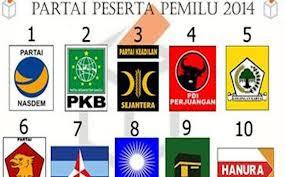 Nama nama Partai Politik Peserta Pemilu 2014