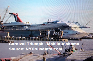 Carnival Cruises Carnival Triumph in Mobile Alabama Drydock