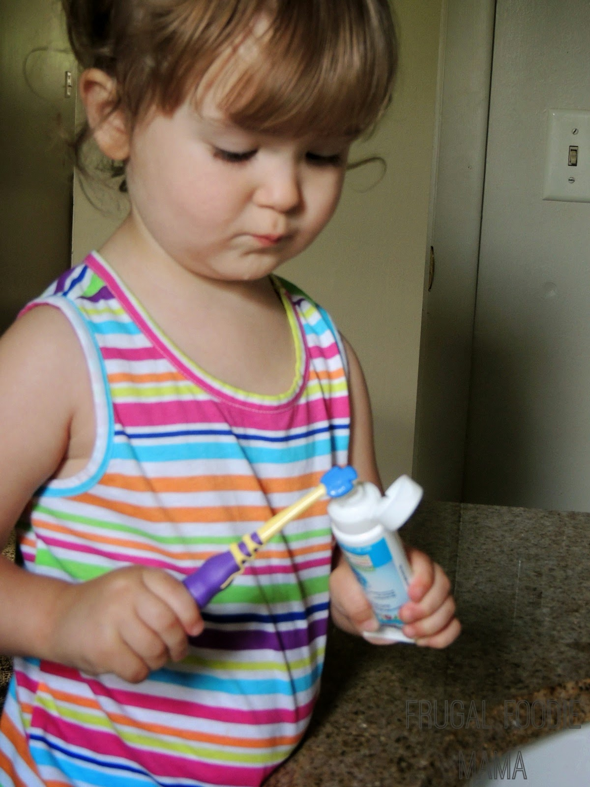 Start baby on a lifetime of healthy teeth with Aquafresh Training toothpaste via thefrugalfoodiemama.com