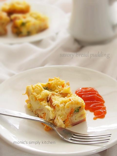 resep savory bread pudding