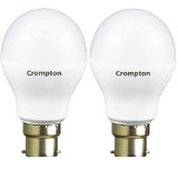 Crompton 9WDF B22 9-Watt LED Lamp (Cool Day Light and Pack of 2)