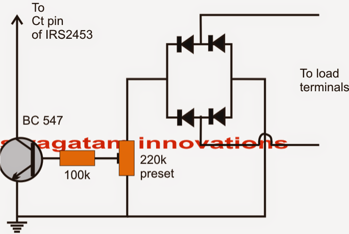 inverter output voltage regulator circuit