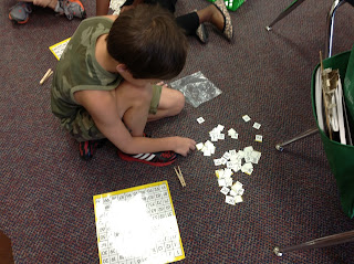 Math Center: Building a Hundreds Board, photo of