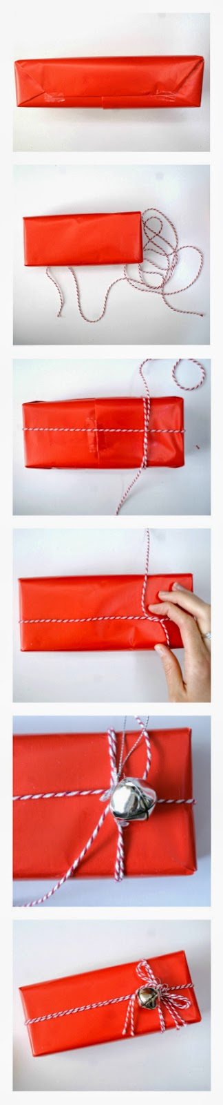 Beautiful Gift Wrapping Ideas on a Budget - Adding Silver Bells for a Festive Touch