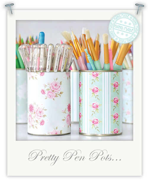 Pretty pen pots by Torie Jayne