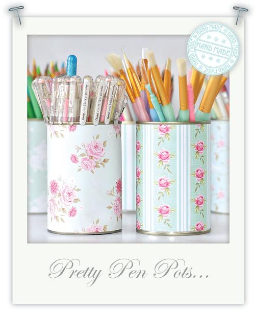 Pretty pen pots by Torie Jayne