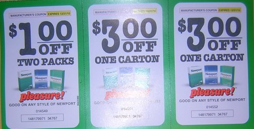 Online coupons for Mild Seven cigarettes