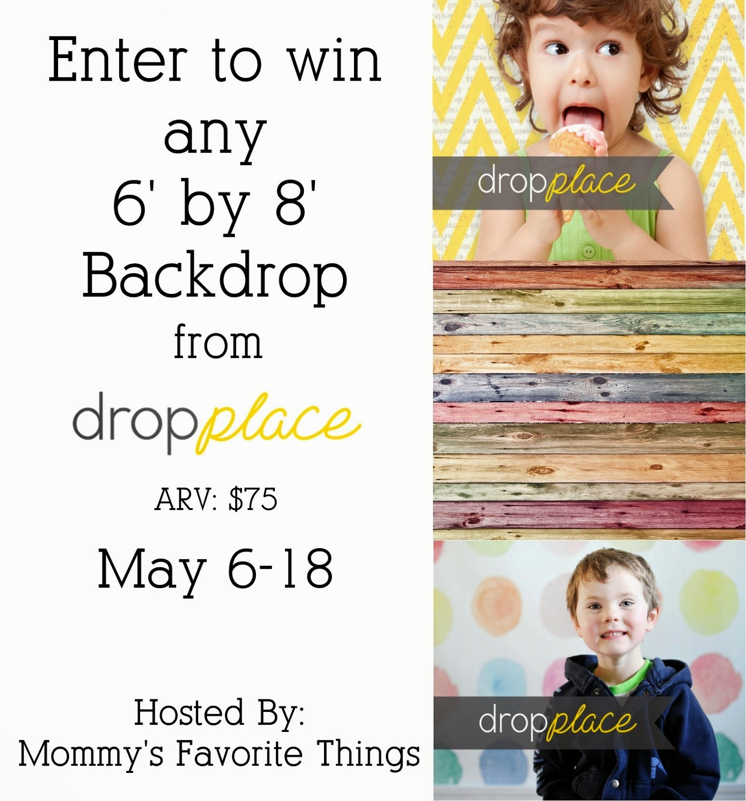 Enter the dropplace Backdrop Giveaway. Ends 5/18