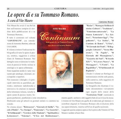 Antonino Russo su Continuum di Vito Mauro (CO.S.MOS.)