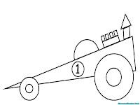 Mewarnai gambar mobil sederhana