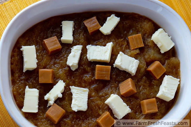 Roasted pumpkin puree baked slowly and simply with caramels, spices, and butter. This sweet treat is easy to make and can even be frozen for winter giving.