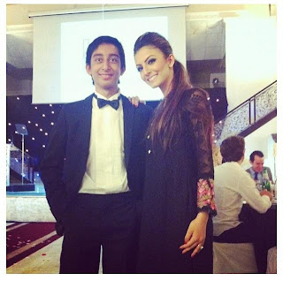 Faryal Makhdoom with cousin of amir khan