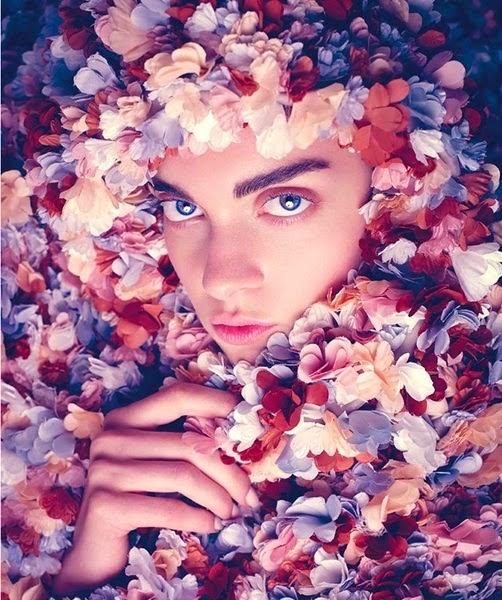 Marni Sprin/Summer 2014 Editorial:Terracotta 3D Flowers Duster Coat