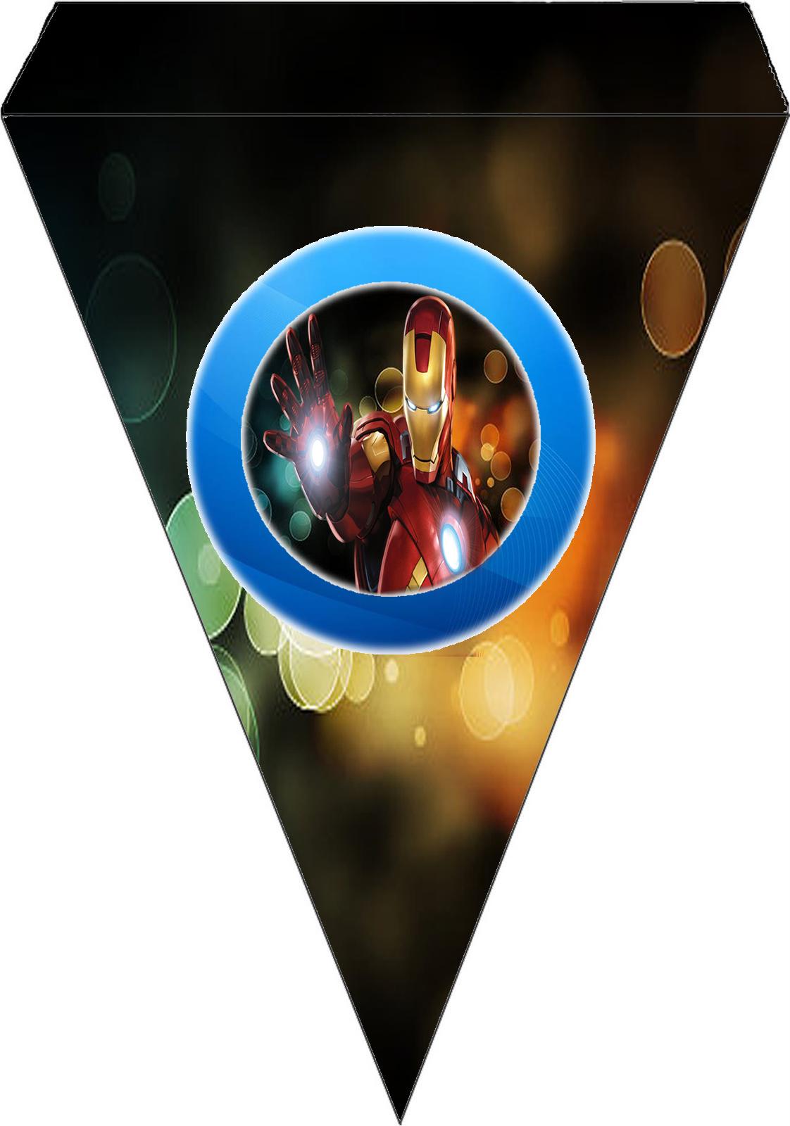Para banderines de Iron Man.