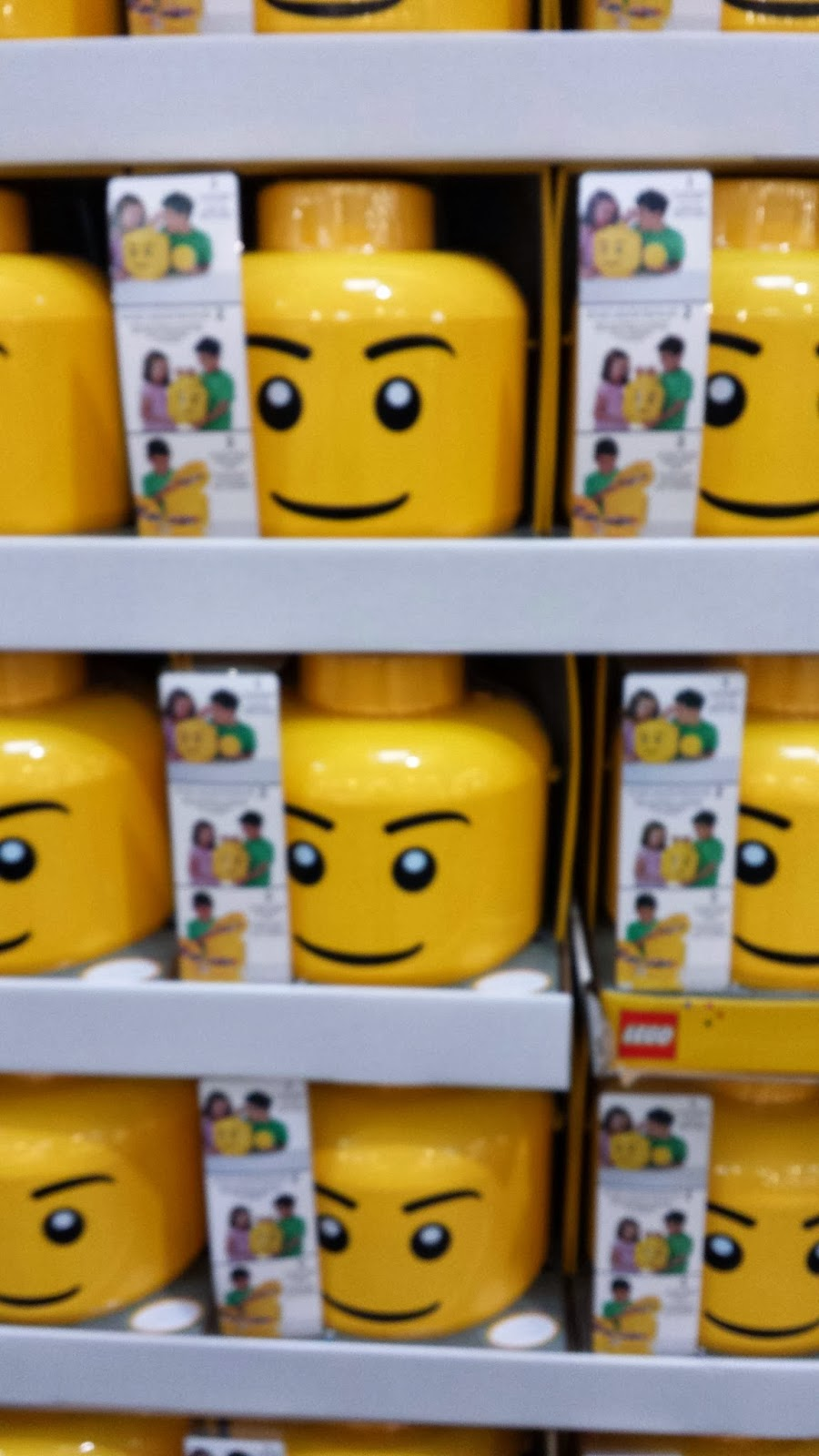 Check out these Giant Lego Mini Figure Head Storage Containers. Not only do it keep all the Lego pieces stored away but it does so in the coolest of ways! & Cathy Thinking Out Loud: ADD THIS TO YOUR GIFT GUIDE! GIANT LEGO ...
