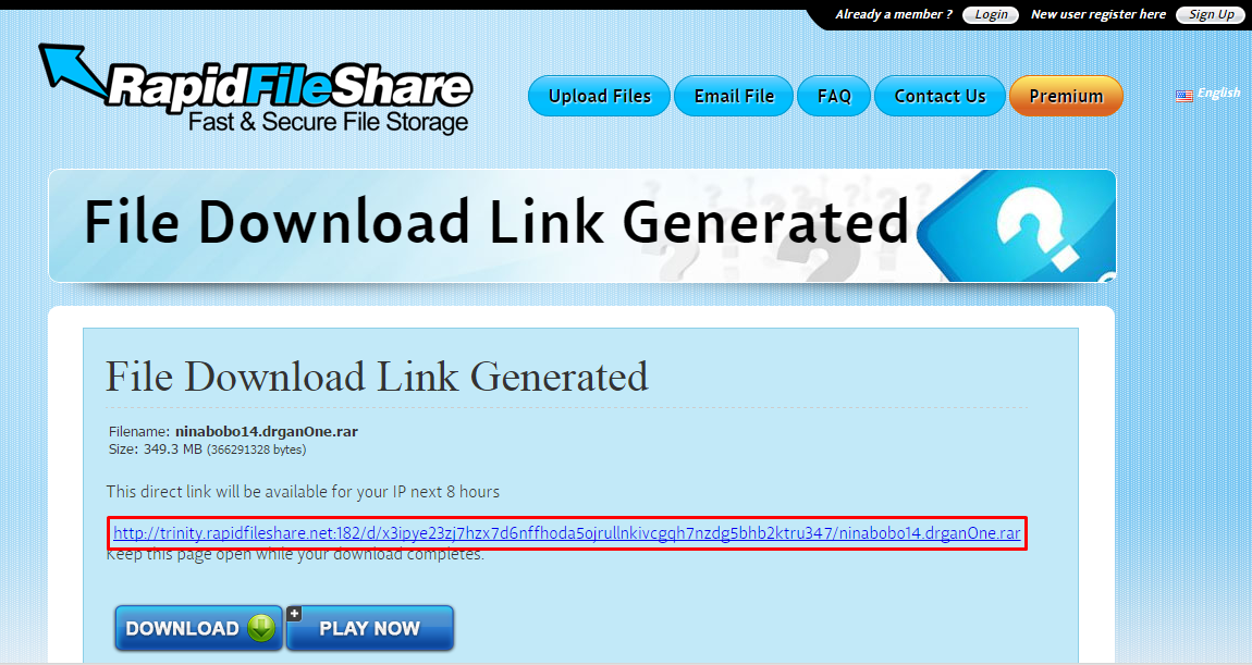 Cara download di FileRapitShare 3