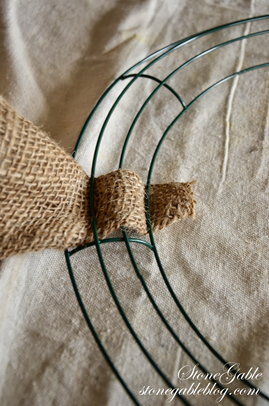 Burlap wreath tutorial stonegable for What to make with burlap