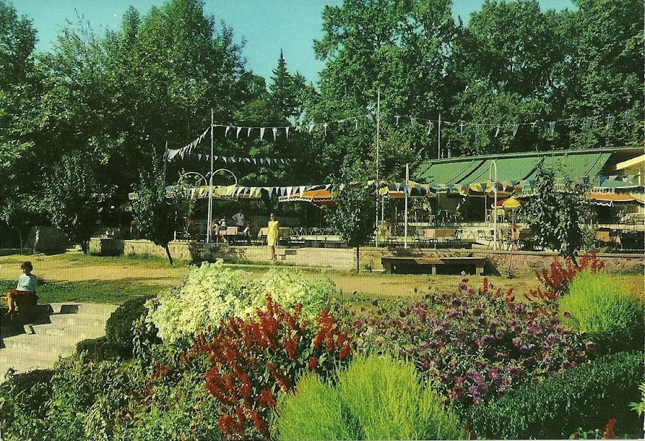 Το τουριστικό περίπτερο και τα περίφημα ανθεστήρια σε cart-postal του 1968