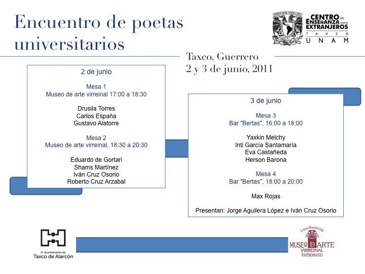 Encuentro de Poetas Universitarios
