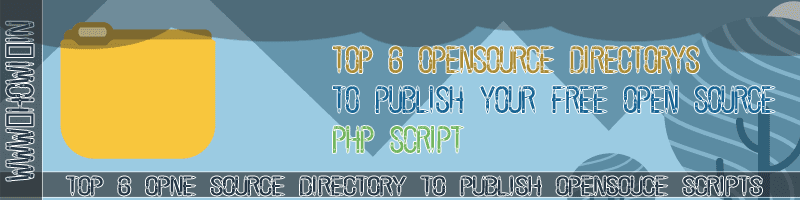 Top 6 Open Source Directory to Publish Free Open Source Php Projects