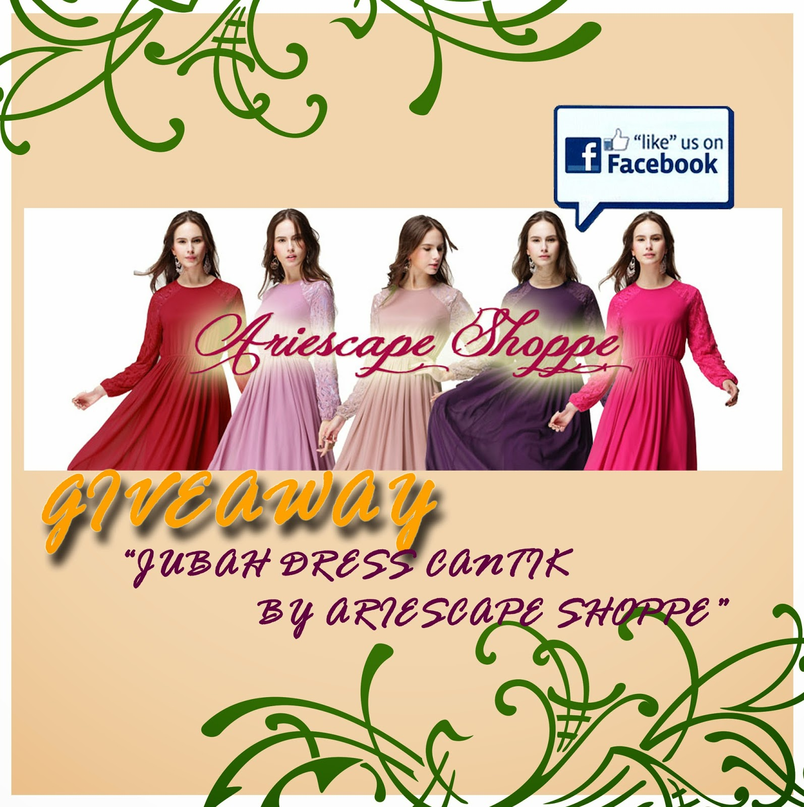 giveaway jubah dress cantik