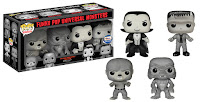 FUNKO POP UNIVERSAL MONSTERS BLACK & WHITE 4 PC VINYL FIGURE BOXED SET GEMINI EXCLUSIVE