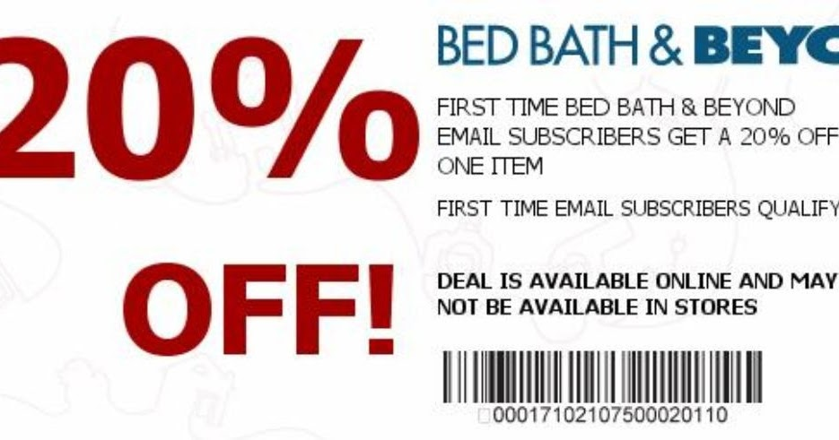 20 off entire purchase bed bath and beyond coupons printable