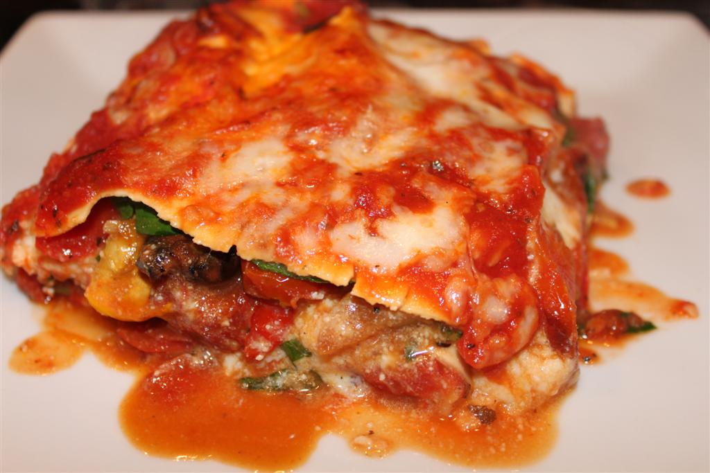 Roasted Vegetable Lasagna Recipe — Dishmaps