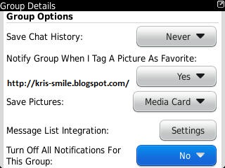 Setting Group Blackberry