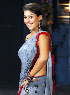 Nayanthara hot saree stills