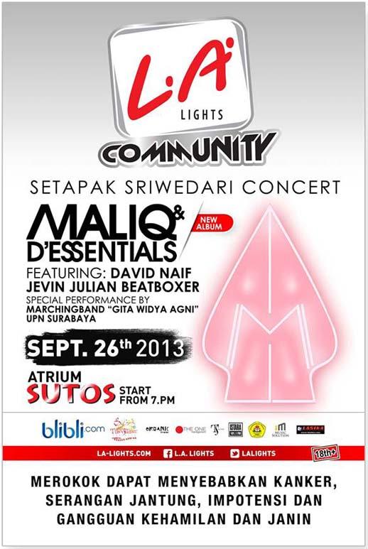 Setapak Sriwedari Concert Surabaya 2013 | New Album Maliq & D'Essentials