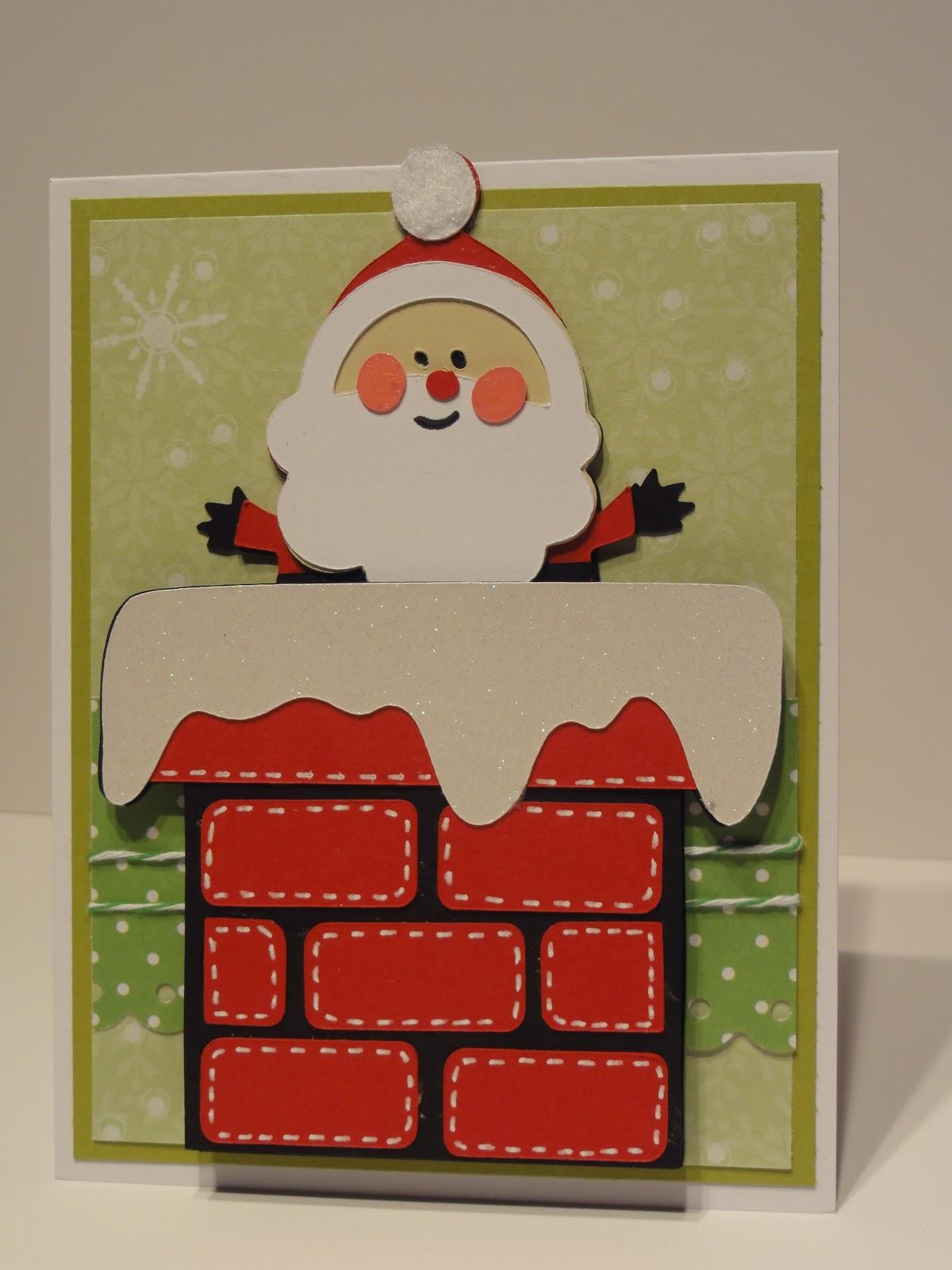 Krafty Kyle Designs: Christmas Cards Galore - Cute Santa Card