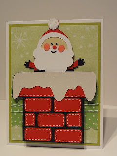 Krafty kyle designs christmas cards galore cute santa card for Christmas card drawing ideas