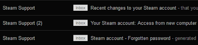 Steam Support Emails