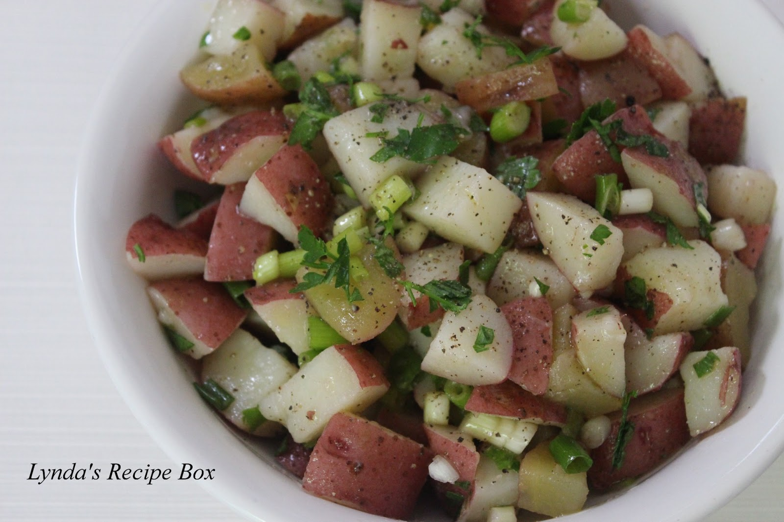 ... Recipe Box: I'm Back with an Oil and Vinegar Potato Salad Recipe