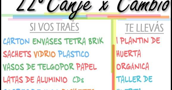 22 canje x cambio 23 03 en el vivero sonyando ecoclub for Viveros en capital