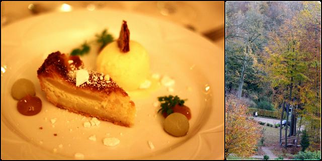 vejlefjord, restaurant, pæretærte, karamel, marengs, syltet pære,